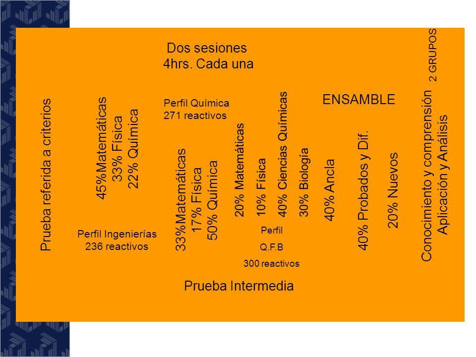 Prueba Intermedia Prueba referida a criterios Dos sesiones 4hrs.