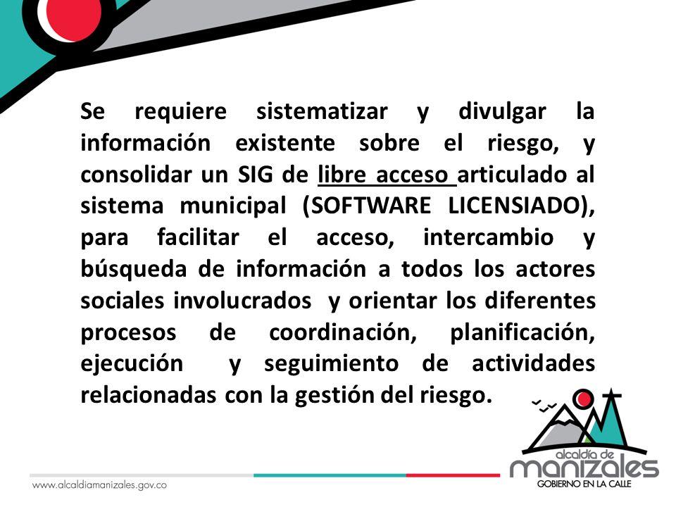 CONVENIO INTERINSTITUCIONAL UNIVERSIDAD NACIONAL DE COLOMBIA – CORPOCALDAS DESARROLLO DE PROYECTOS DE MANEJO DE LA INFORMACIÓN, INVESTIGACIÓN, MONITOREO, CAPACITACIÓN Y TRANSFERENCIA TECNOLÓGICA EN TEMAS RELACIONADOS CON GESTIÓN DEL RIESGO, MEDIO AMBIENTE Y LOS RECURSOS NATURALES RENOVABLES EN EL DEPARTAMENTO DE CALDAS.