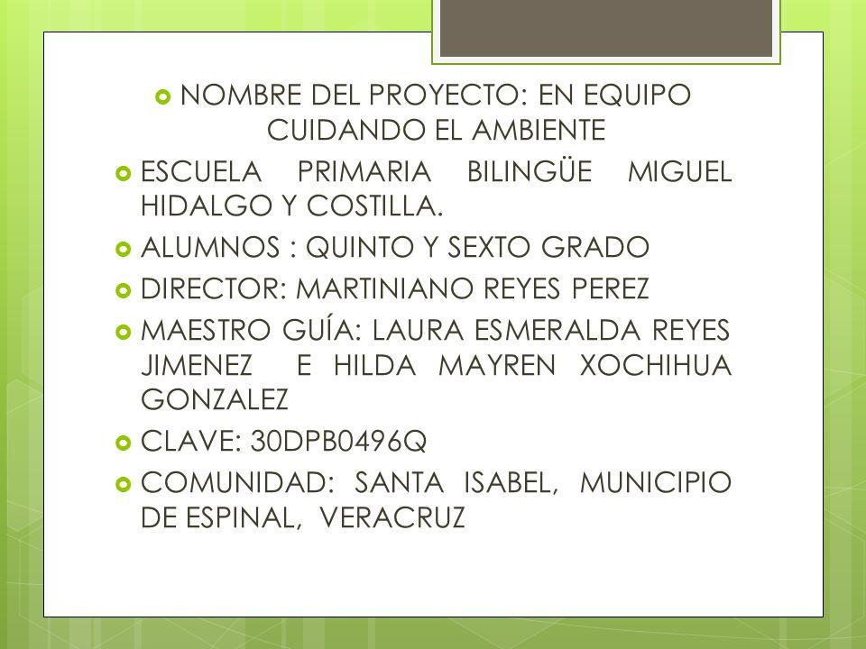 La escuela primaria Miguel Hidalgo Y Costilla, se encuentra ubicada en la comunidad de Santa Isabel, del municipio de espinal Veracruz.