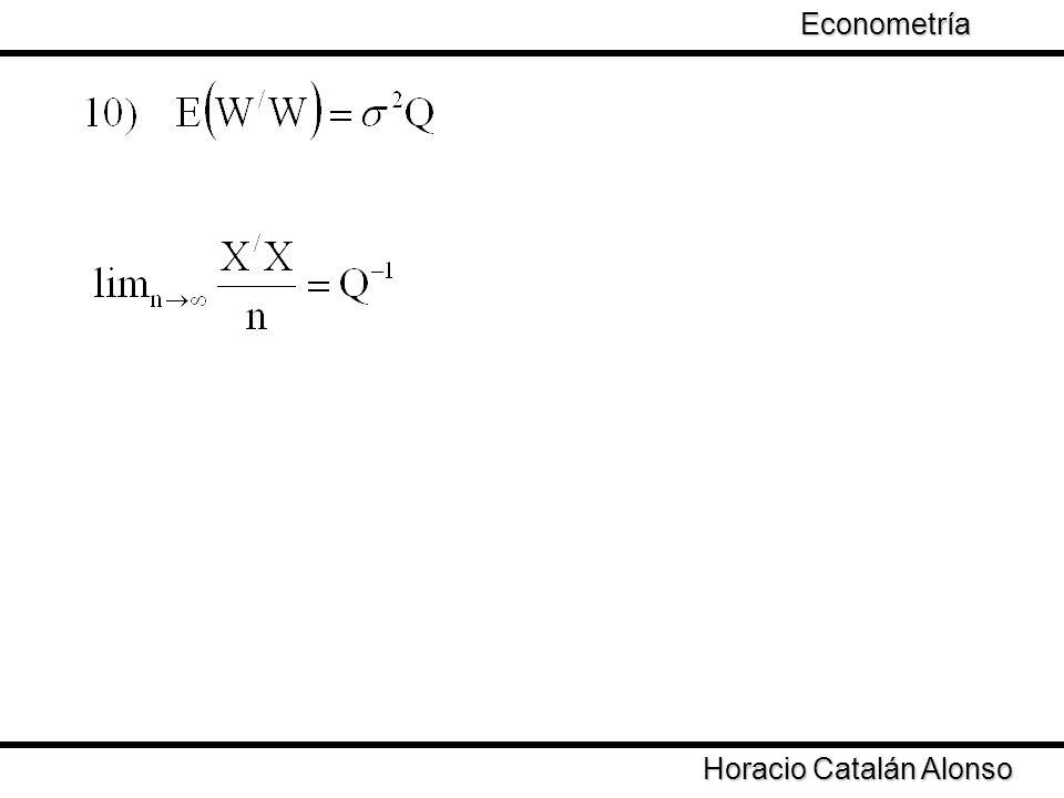 Taller de Econometría Horacio Catalán Alonso Econometría Si el término de error se distribuye como una normal con media cero y varianza constante entonces
