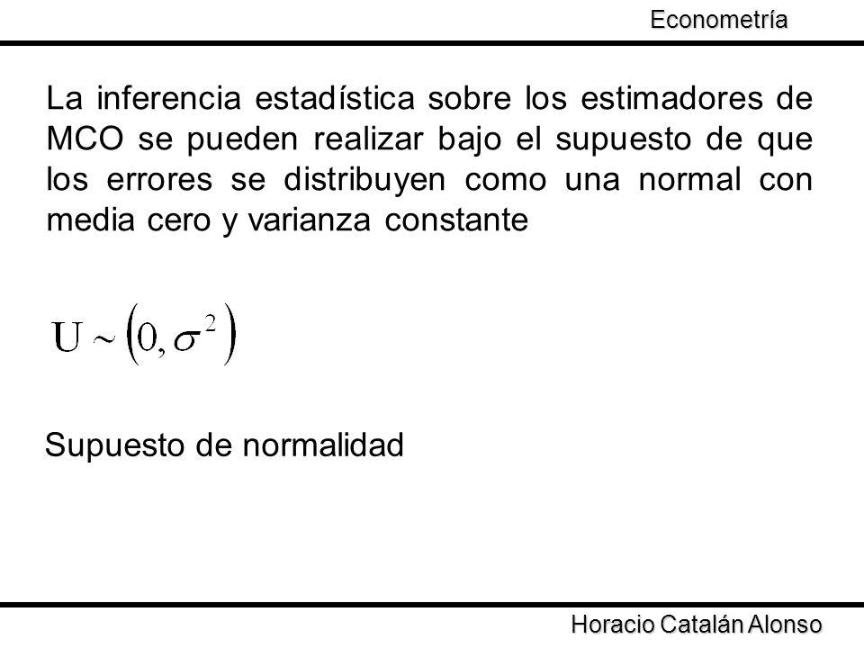 Taller de Econometría Horacio Catalán Alonso Econometría Propiedades de los estimadores MCO Asintóticas Nota: Se demuestra que se x es una variable aleatoria con media μ y varianza entonces Cuando n tiende a infinito converge a una normal con media cero y varianza Bajo esta idea se necesita probar como es la distribución de