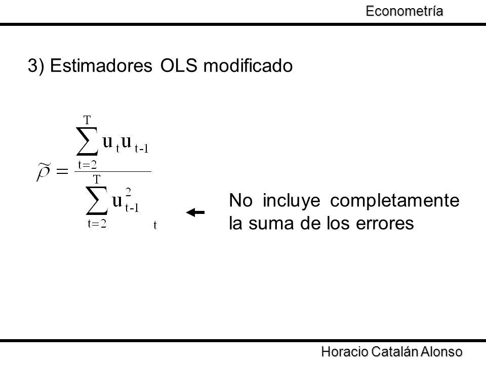 Taller de Econometría Horacio Catalán Alonso Econometría Se asume que los errores siguen un proceso de media móvil de orden 1 4) Modelo MA(1) donde θ es la estimación de ρ