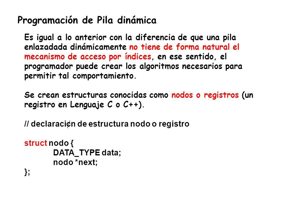 Algoritmo: 1)Al principio la lista est á vacia, en ese caso el SP es igual a NULL y, en consecuencia, el puntero next tambi é n es NULL.