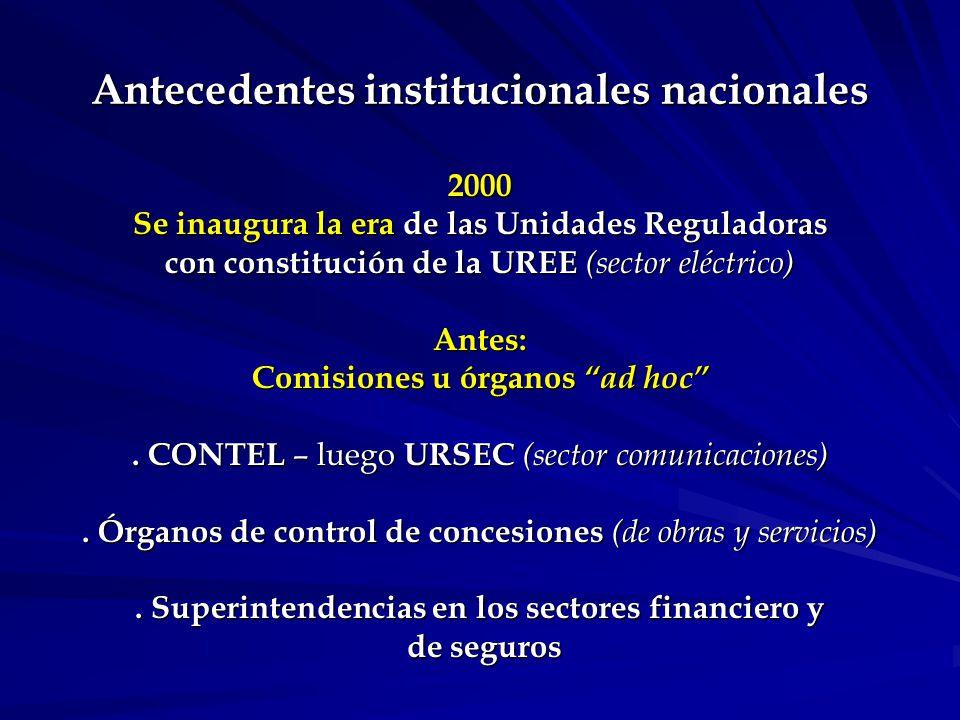 Evolución institucional.Art. 2º, 16.832 – creación de la UREE como U.E.