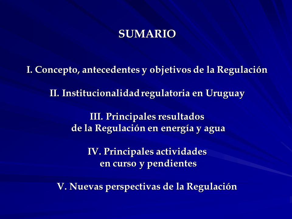I. Concepto, antecedentes y objetivos de la Regulación