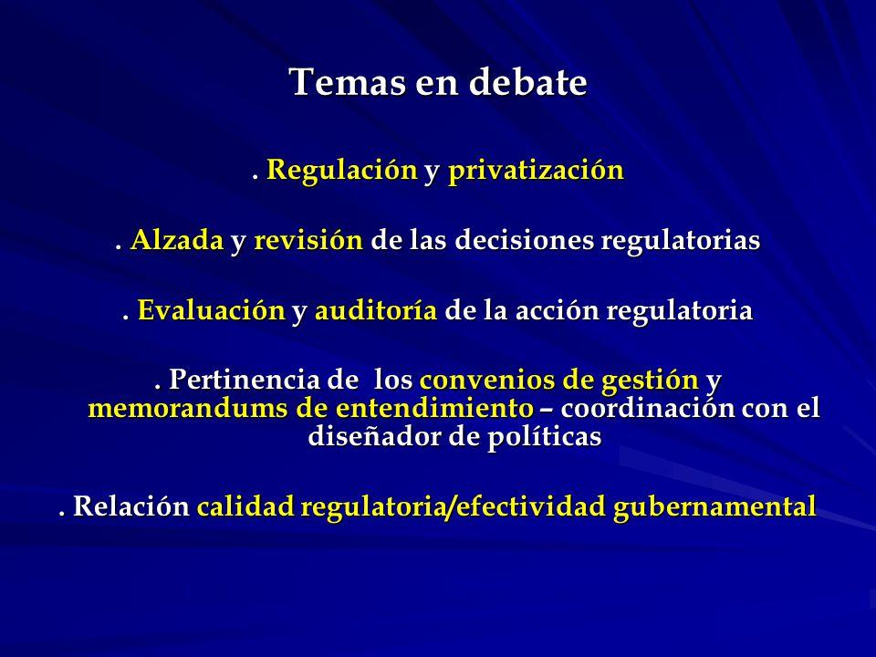 Evaluación de la acción regulatoria.Reino Unido – Better Regulation Task Force.