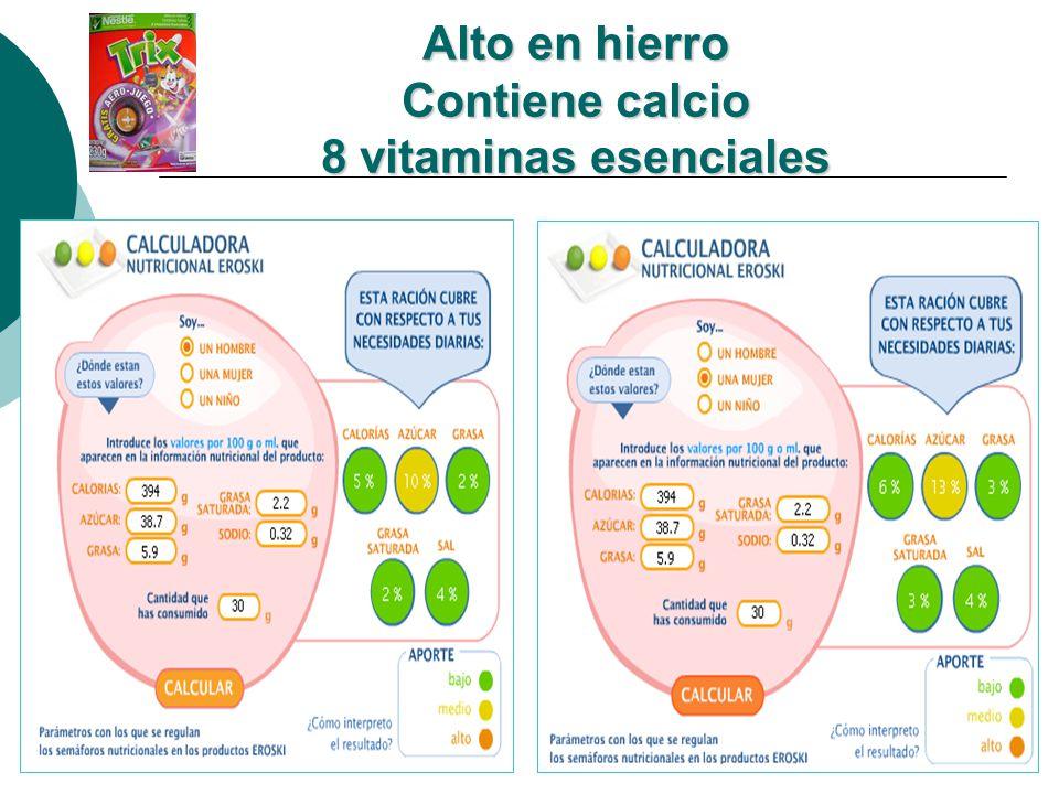 Si el niño consume tres porciones: Ten en cuenta que cuanto más porciones consumas, los valores de nutriente consumidos suben y por tanto también su aporte.