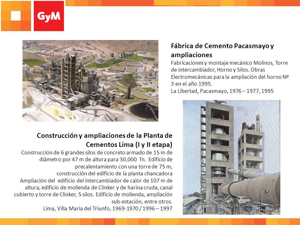 Fabrica de Cementos Viacha para Soboce Expansión de la planta de Cemento Viacha, manufacturas metálicas y montaje electromecánico.