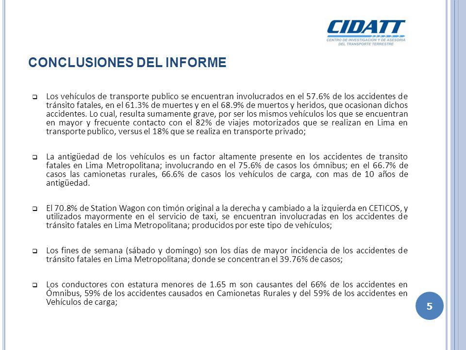 El 60% de los accidentes de tránsito ocurridos en Lima Metropolitana, corresponden a los atropellos.
