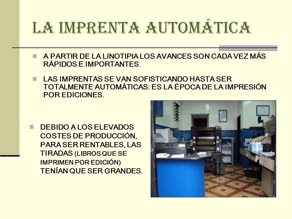 LA IMPRENTA ELECTRÓNICA NACE COMO CONSECUENCIA DE: CAMBIOS MÁS ACELERADOS.