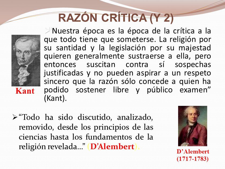 LA RAZÓN ILUSTRADA (II) : UNA RAZÓN TOLERANTE Voltaire (1694-1778) dijo: VOLTAIRE La tolerancia es el patrimonio de la razón.
