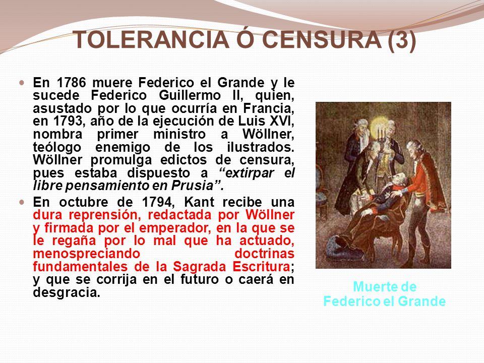 Texto que recibe Kant Federico Guillermo, rey de Prusia por la gracia de Dios… a nuestro fiel e ilustre súbdito, salud.