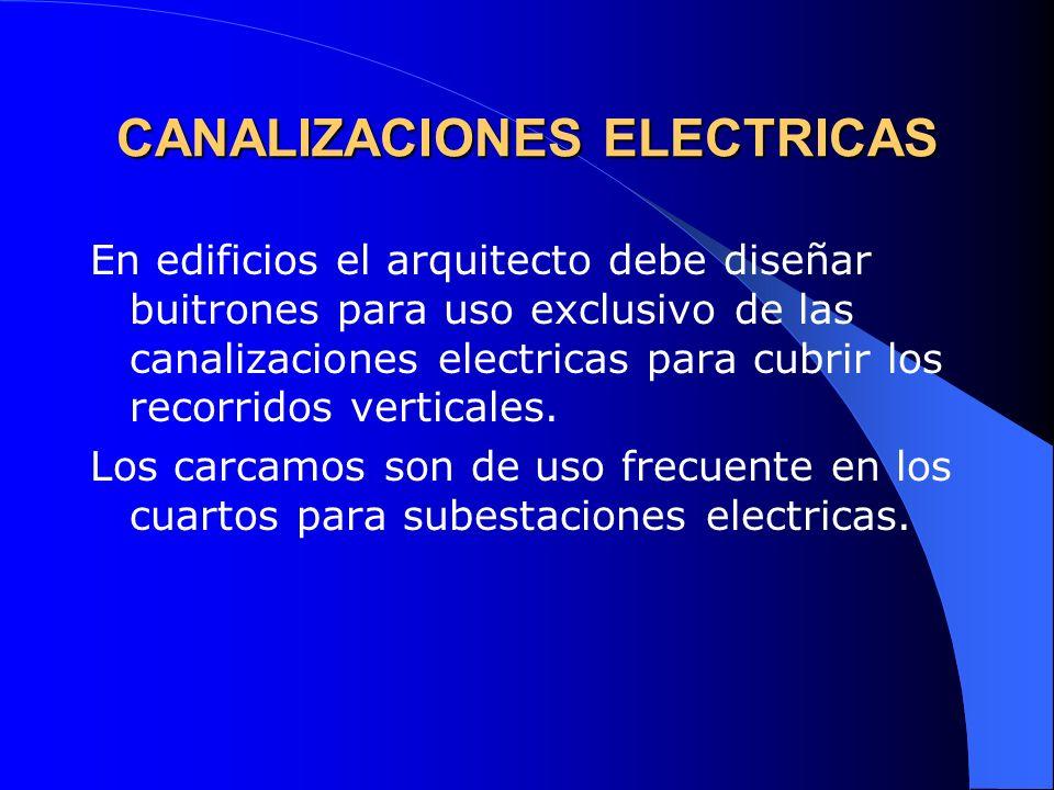 CANALIZACIONES ELECTRICAS DIMENSIONES DE TUBOS CONDUIT ½, ¾, 1, 1 ¼, 1 ½, 2, 3, 4.