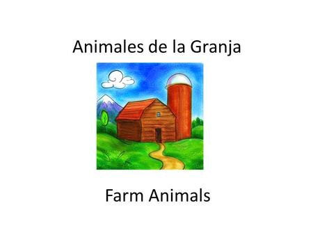 Animales de la Granja Farm Animals.