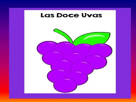 HHHGGHHH. Las Doce Uvas December 31st is an exciting day in the world, and many other Spanish speaking countries. Everyone is focused on family and fiesta,