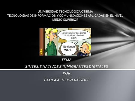 SINTESIS NATIVOS E INMIGRANTES DIGITALES