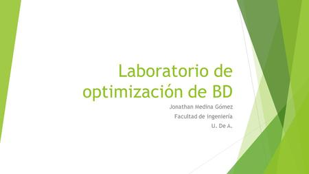 Laboratorio de optimización de BD