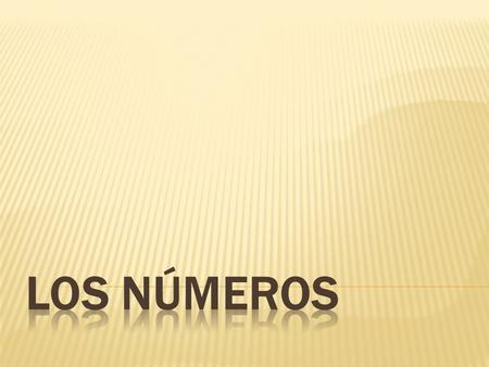  For each number, say it out loud in Spanish and then write it down on your notes.  If there is not a space on your notes for a particular number, do.