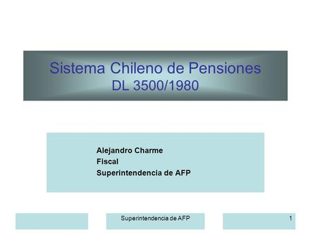 Sistema Chileno de Pensiones DL 3500/1980