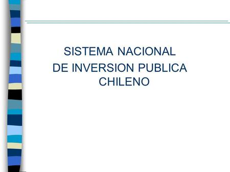 DE INVERSION PUBLICA CHILENO