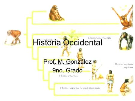 Historia Occidental Prof. M. González 9no. Grado.
