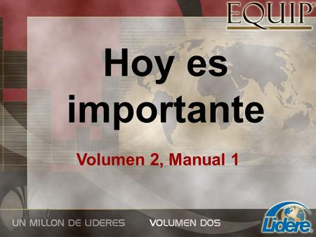 Hoy es importante Volumen 2, Manual 1.