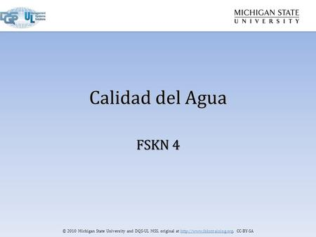© 2010 Michigan State University and DQS-UL MSS, original at  CC-BY-SA Calidad del Agua FSKN 4.