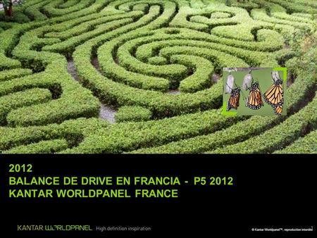 © Kantar Worldpanel™, reproduction interdite 1 2012 BALANCE DE DRIVE EN FRANCIA - P5 2012 KANTAR WORLDPANEL FRANCE B.