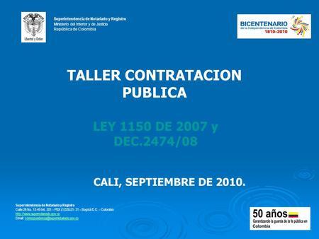 Procedimientos de contrataci n p blica y mejora de eficiencia en el estado colombiano ppt - Subastas ministerio del interior ...