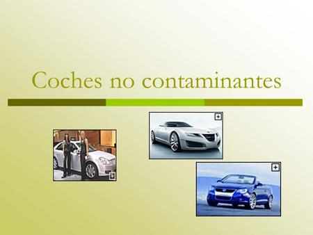 Coches no contaminantes