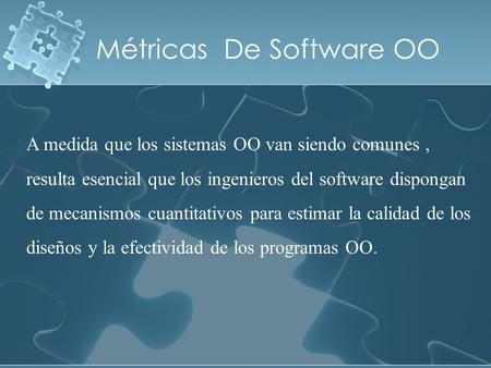 Métricas De Software OO