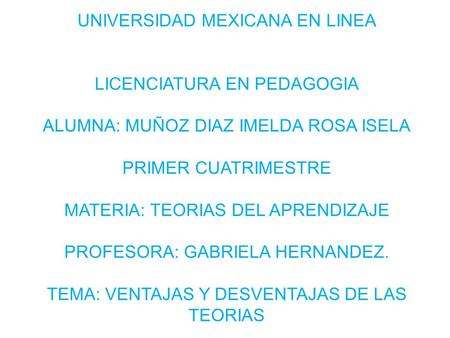 UNIVERSIDAD MEXICANA EN LINEA