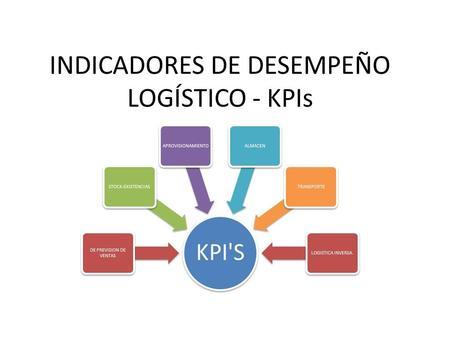 Indicadores de gestion logistica ppt