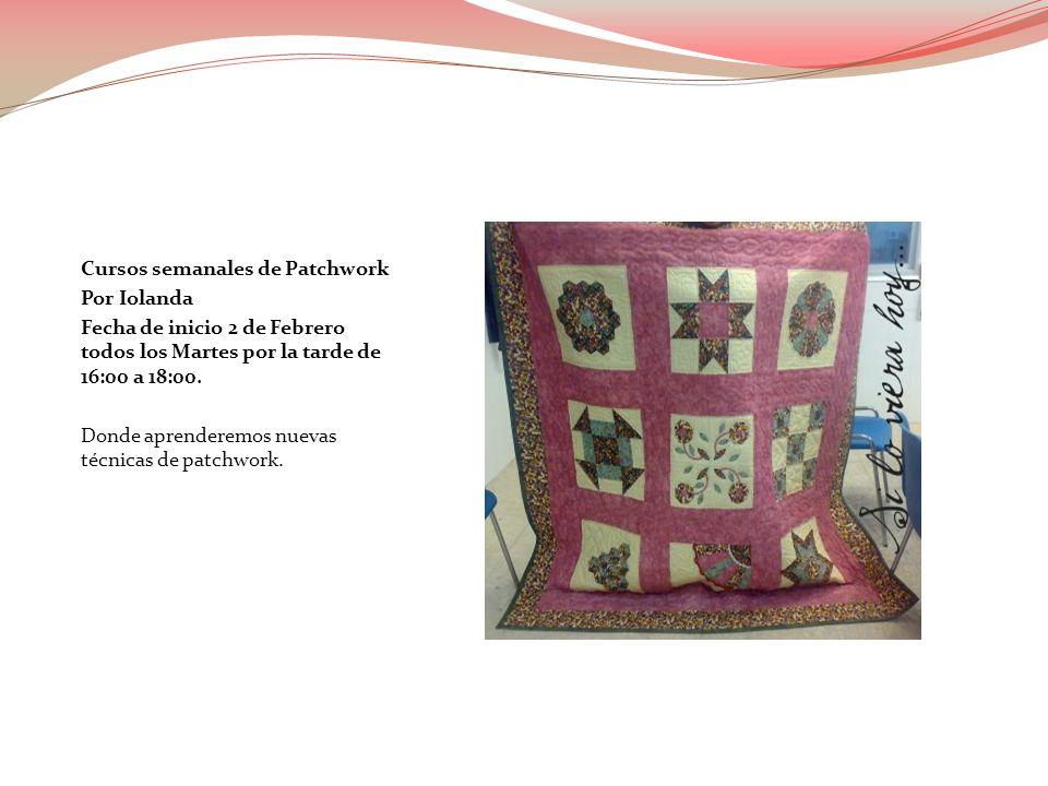 Cursos semanales de Costura por Josefina Barros fecha de inicio 4 de Febrero todas las mañanas de 10:00 a 12:00.