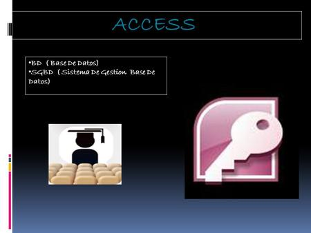 ACCESS BD ( Base De Datos) SGBD ( Sistema De Gestion Base De Datos)