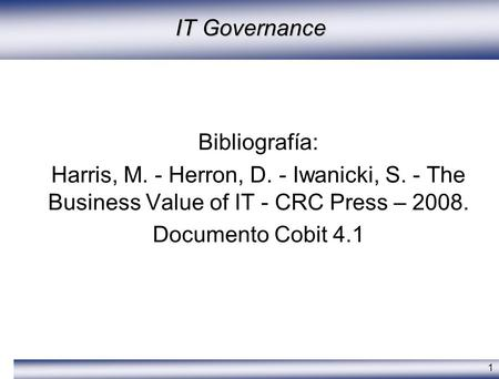 IT Governance Bibliografía: