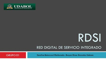 RDSI red digital de servicio integrado