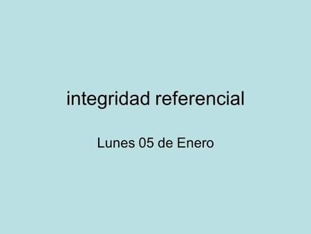 integridad referencial