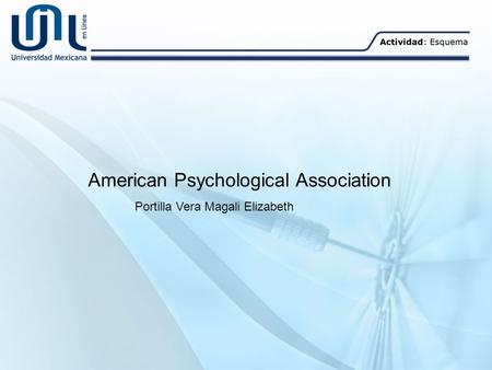 American Psychological Association Portilla Vera Magali Elizabeth.