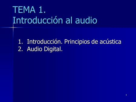 TEMA 1. Introducción al audio