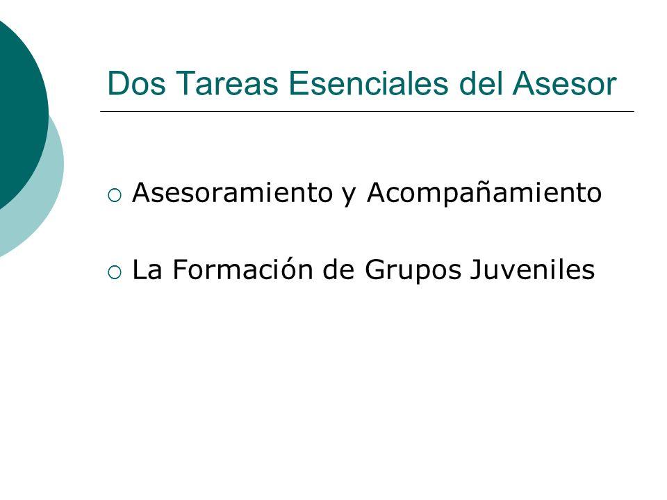 Áreas de Formación de los Asesores de PJ Acompañamiento Pastoral Contexto Juvenil Doctrinal Pastoral Doctrinal Teológica Espiritualidad