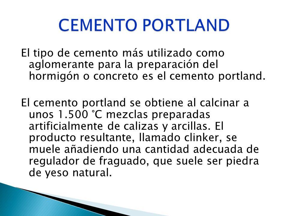 Es el principal componente del cemento portland, el cemento más común y, por tanto, del hormigón.El clinker portland se forma tras calcinar caliza y arcilla a una temperatura que está entre 1350 y 1450 °C.
