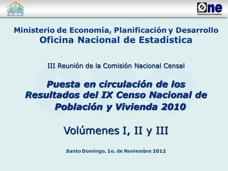 El plan de tabulacion del ix censo nacional de poblacion y for Oficina nacional de evaluacion