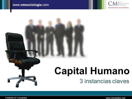 POWERED BY ConceptWizz www.conceptwizz.com www.cmsociologia.com Capital Humano 3 instancias claves.