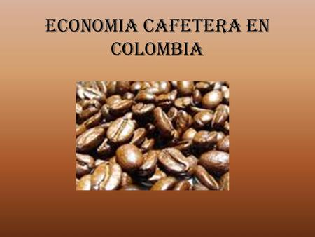 ECONOMIA CAFETERA EN COLOMBIA. INTEGRANTES WILSON GAVIRIA DUQUE ALFREDO PATIÑO URIBE WILLIAM TREJOS LADY GIOVANNA ECHEVERRY.
