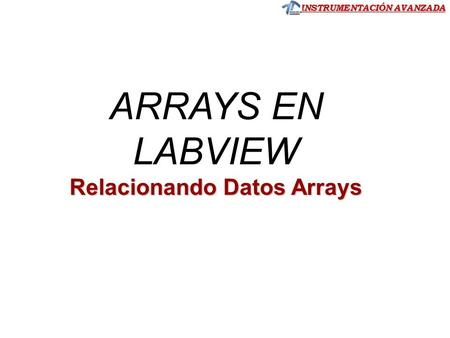 Relacionando Datos Arrays