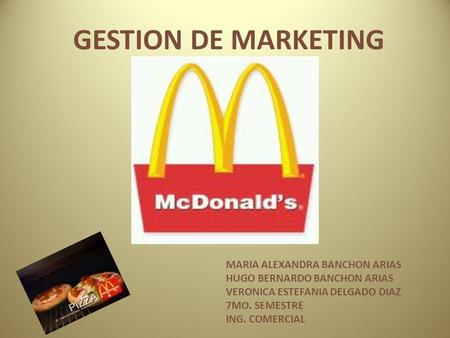 GESTION DE MARKETING MARIA ALEXANDRA BANCHON ARIAS