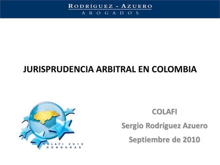 JURISPRUDENCIA ARBITRAL EN COLOMBIA