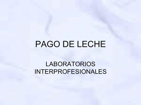 LABORATORIOS INTERPROFESIONALES