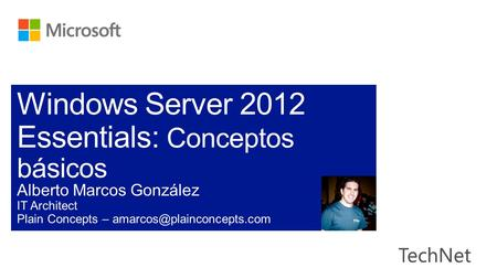 Windows Server 2012 Essentials: Conceptos básicos